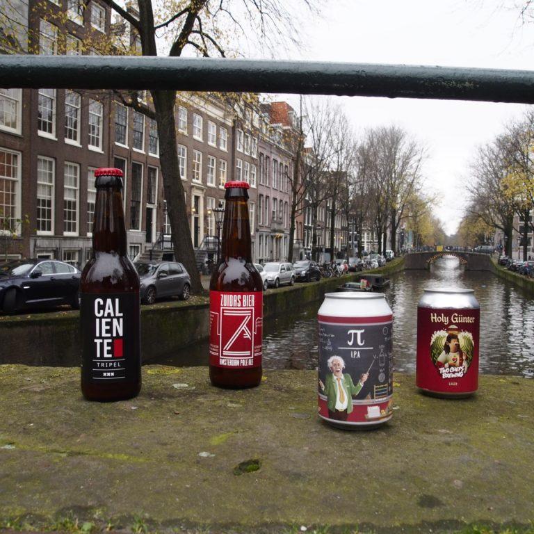 vier bieren uit de Amsterdam Box
